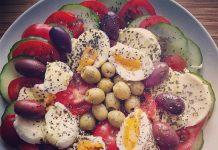 caprese salat rezept mit ei